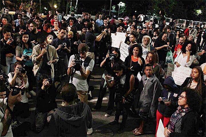 Na última segunda (24), o movimento negro realizou um protesto na avenida Paulista pela liberdade de Rafael Braga