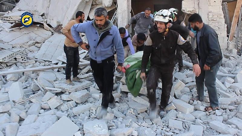 Aviões de guerra e helicópteros de combate bombardearam áreas do controle de oposição em Aleppo, Idlib e Latakia, em fevereiro deste ano