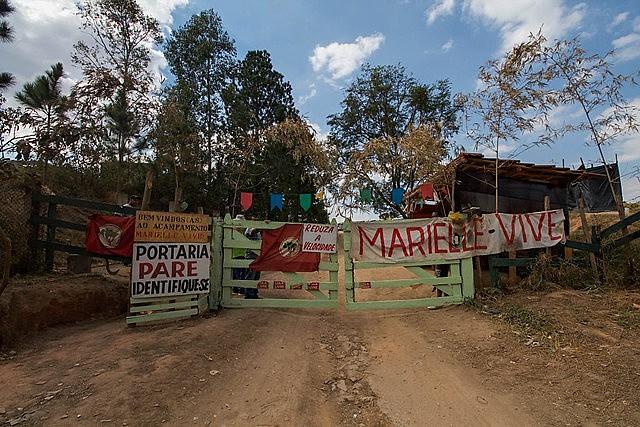Más de mil famílias viven en el campamento Marielle Vive, en el municipio de Valinhos en Sao Paulo