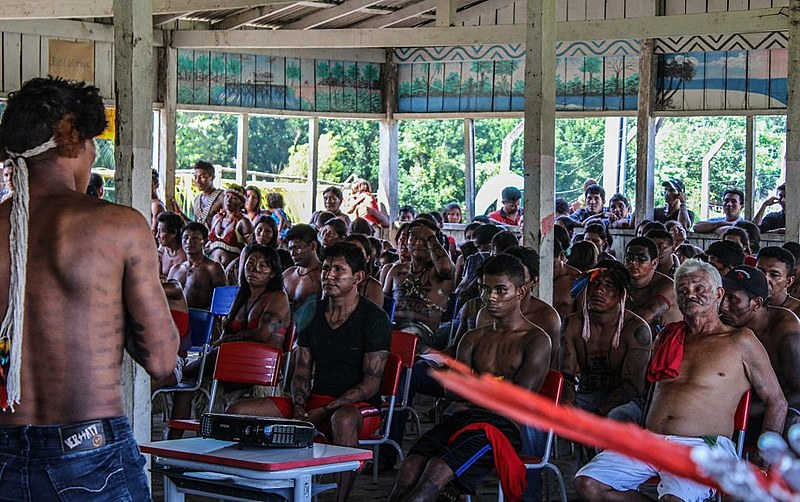Encontro dos povos indígenas Kayabi, Apiaká, Munduruku
