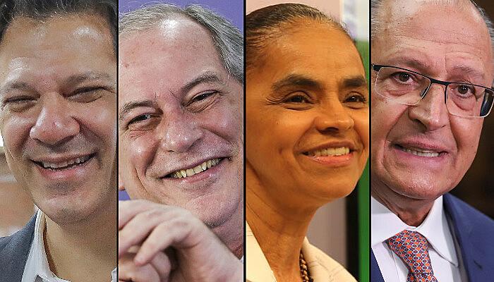 Os quatro presidenciáveis empatados em segundo lugar