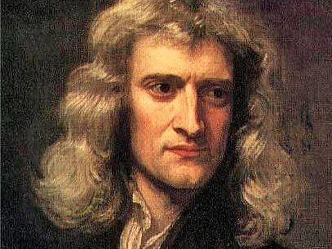 Fragmento de retrato de Newton em 1689 feito por Godfrey Kneller