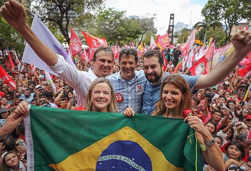 Ato com Haddad em Fortaleza (CE) neste sábado (20)