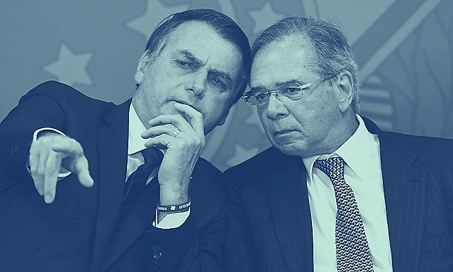 "President of Brazil, Jair Bolsonaro (left), and his Economy ""guru"" Paulo Guedes: one year of stagnation"