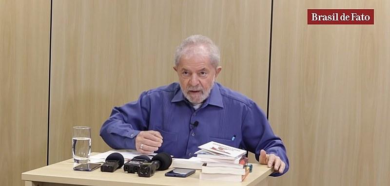 Ex-presidente Lula concede entrevista ao Brasil de Fato na PF, em Curitiba (PR)