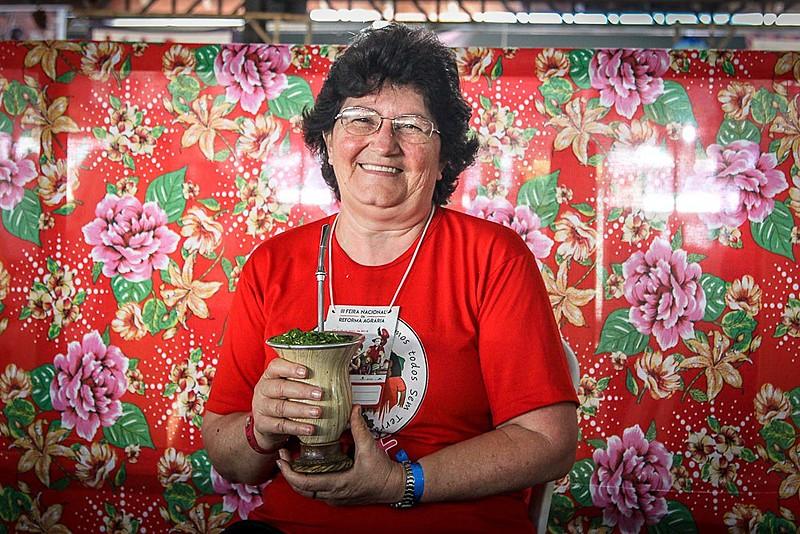 Irma Brunetto (58), militante histórica do MST em Santa Catarina