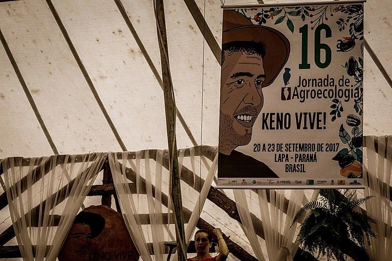 Imagem e exemplo de vida do militante Keno marca a 16ª edição da Jornada de Agroecologia de 2017