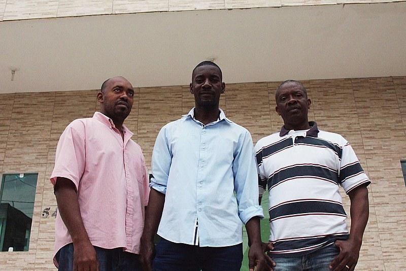 Clorisman Ambroise, Wismick Joseph e Altes Petiote, haitianos em Balneário Camboriú (SC)