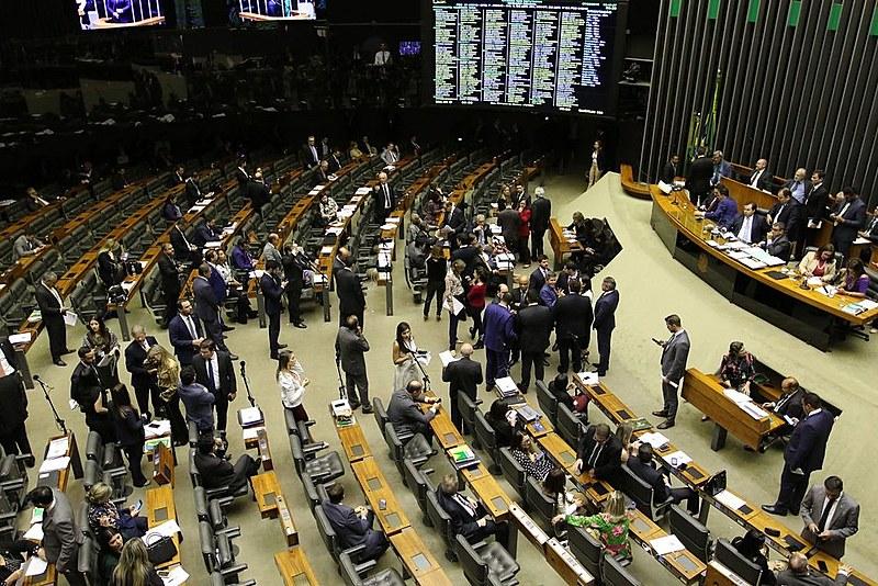 Plenário da Câmara durante votação de segundo turno da reforma da Previdência