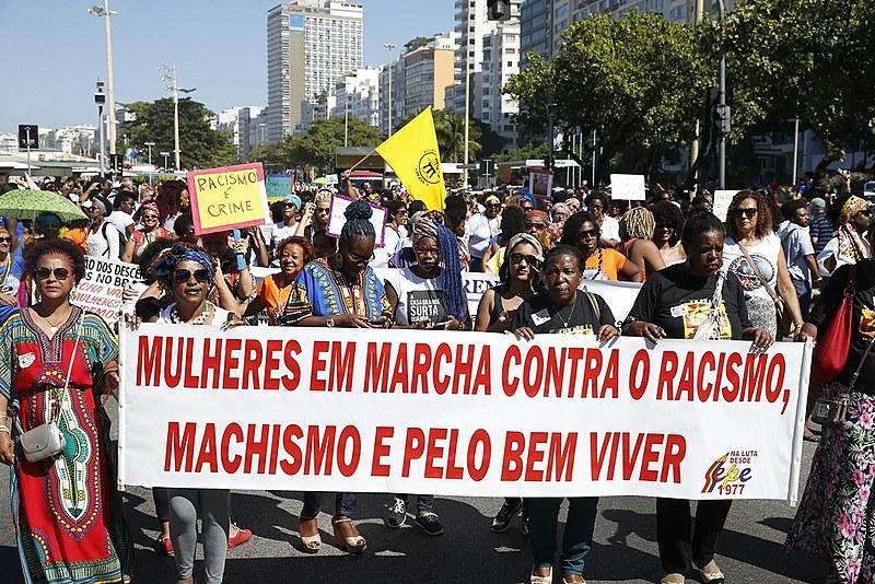 3ª Marcha das Mulheres Negras no Centro do Mundo no RJ em celebração ao o Dia da Mulher Negra Latino-Americana e Caribenha