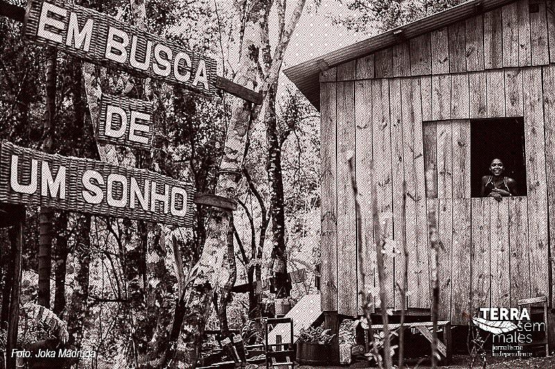 Acampamento Dom Tomás Balduíno, no Paraná, em 2015