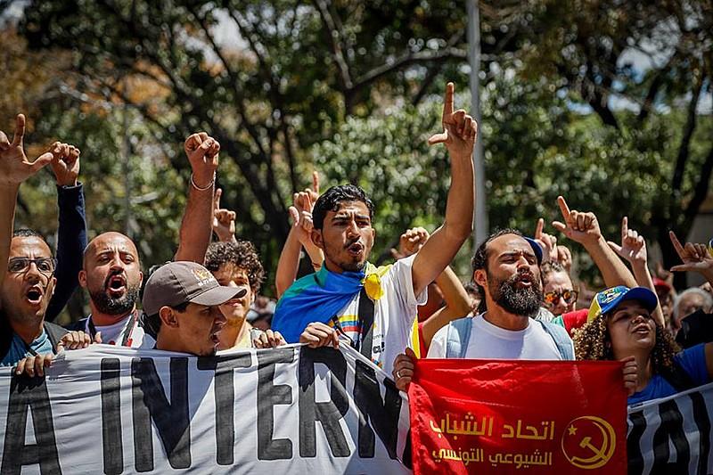 En febrero de este año, Venezuela recibió centenas de militantes de distintos países en solidaridad con Venezuela