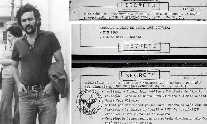 """""""Foi uma forma de tentar desestabilizar o Felipe, que tem incomodado muito o governo"""", afirmou o irmão de Fernando Santa Cruz"""