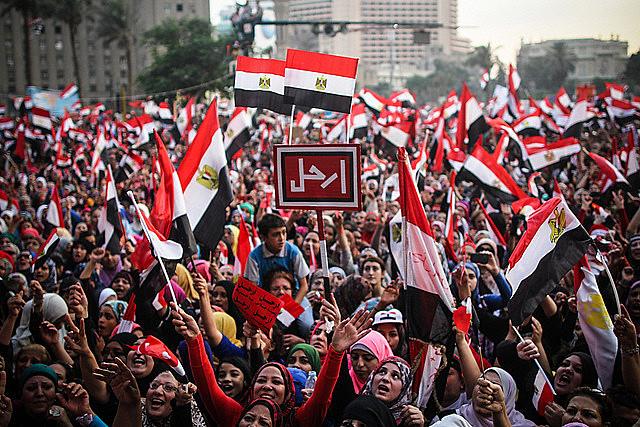 Protesto de mulheres no Cairo, neste ano