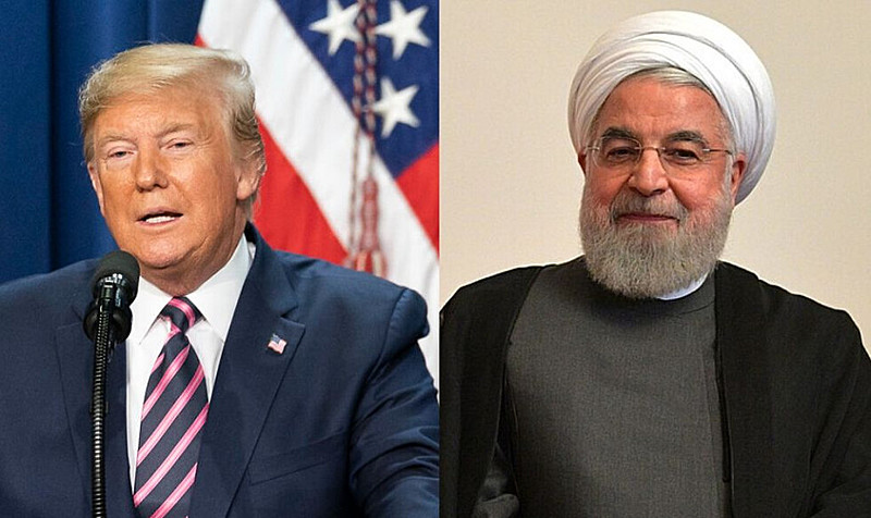 Trump e Rouhani: ao longo de 2019, disputas que aumentaram a tensão entre EUA e Irã