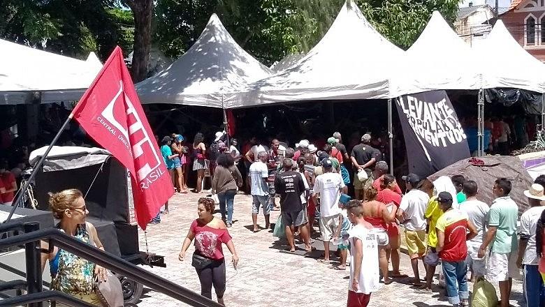 Acampamento Lula livre no Ceará