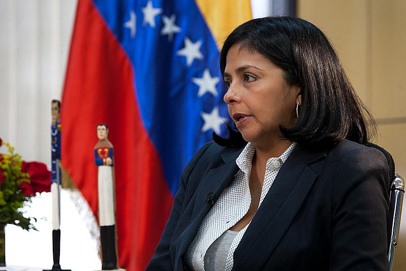 Delcy Rodríguez rejeitou sanções impostas pelos EUA