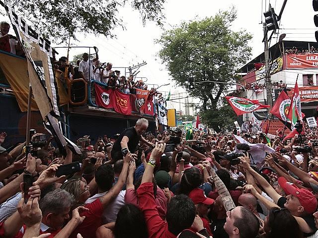 Ex-president spoke Saturday to thousands of supporters in São Bernardo do Campo