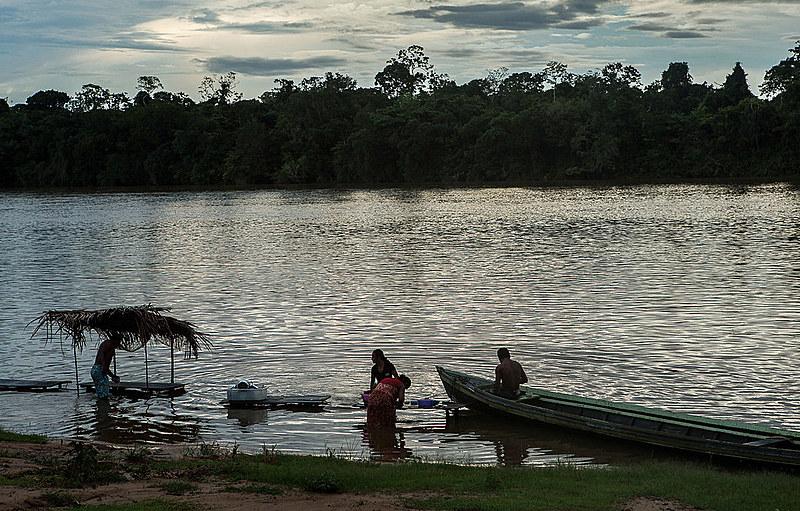 Comunidade de Pimental, que será alagada pela construção da barragem de São Luis do Tapajós