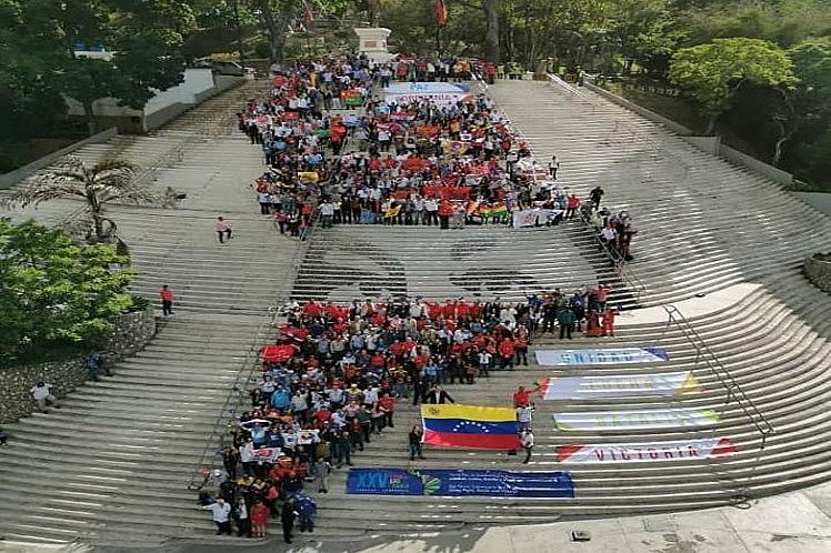 Homenagem a Chávez, defesa da soberania venezuelana e da Revolução Cubana foram tema do encerramento protagonizado