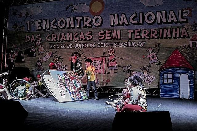Evento é organizado por crianças que vivem em assentamentos e acampamentos do MST