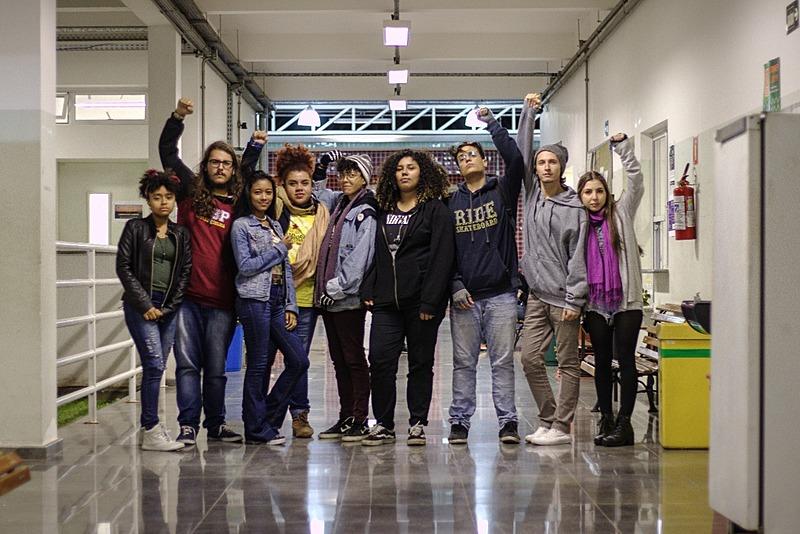 Estudantes organizam ato contra os cortes na educação, no Instituto Federal de Pirituba