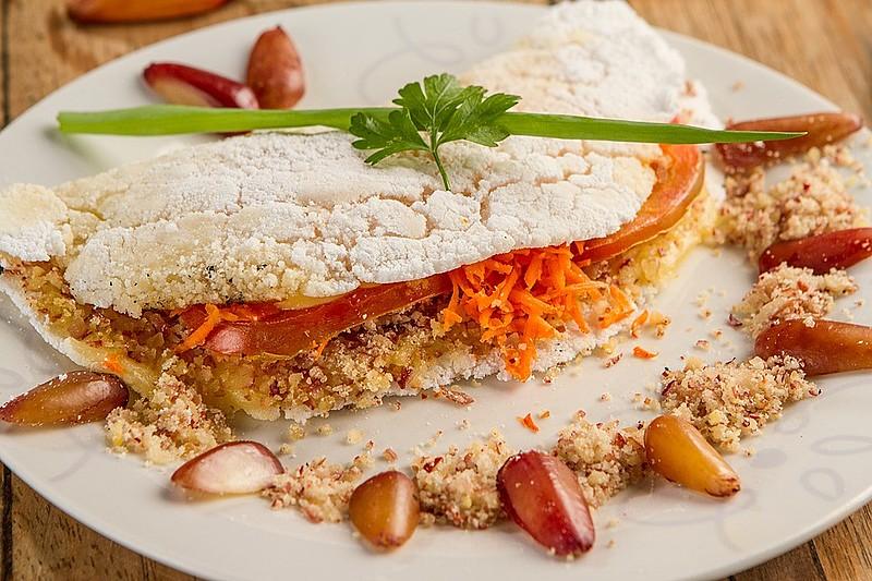A tapioca é feita a partir de uma goma extraída da mandioca