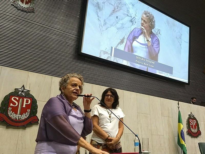 Ex-ministra Eleonora Menicucci representou a ex-presidenta Dilma Rousseff na entrega do prêmio Beth Lobo de Direitos Humanos na Alesp