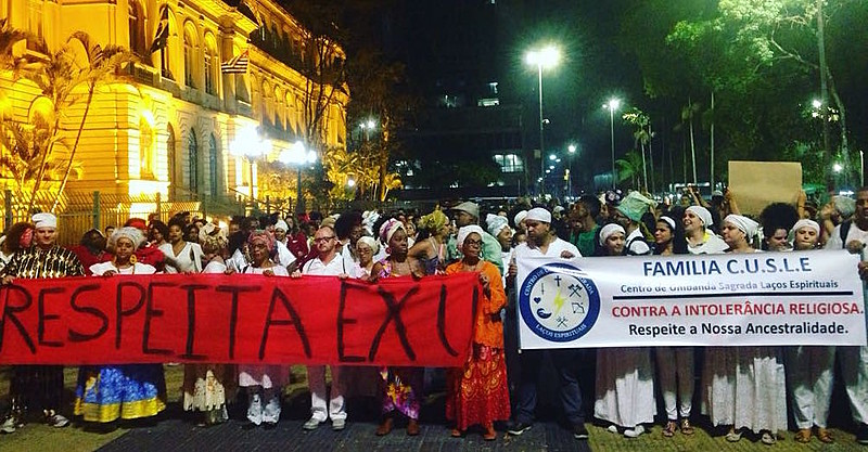 Em setembro, adeptos das religiões de matriz africana tomaram às ruas da cidade de SP contra o racismo religioso