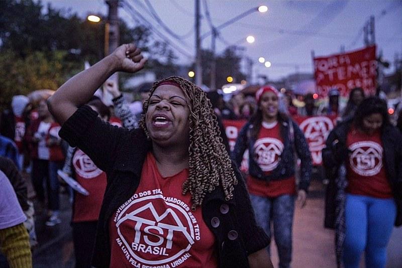 Ato do MTST na zona leste de São Paulo nesta sexta (28)
