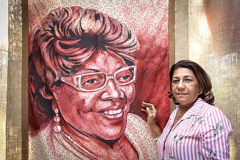 Marinete Silva, mãe de Marielle Franco, no Espaço Dona Ivone Lara na 3ª Feira Nacional da Reforma Agrária