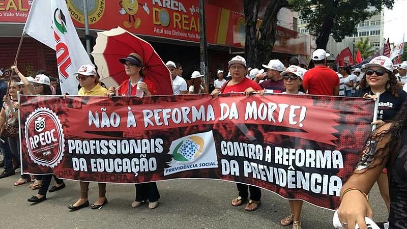 Mobilização de trabalhadores da educação em Fortaleza, Ceará