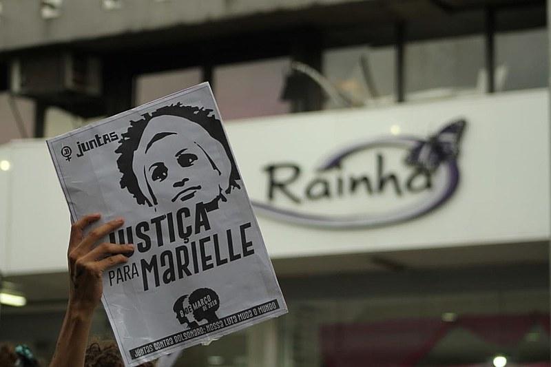 No dia 8 de março, brasileiros também foram às ruas em memória de Marielle