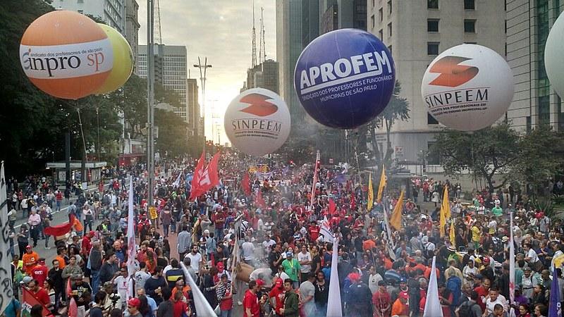 En São Paulo, manifestantes se concentraram en la Avenida Paulista, la principal de la megalópolis