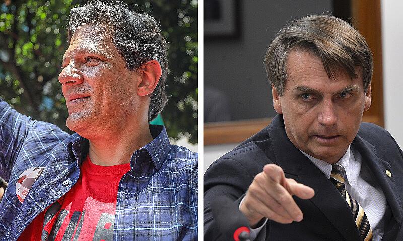 Levantamentos indicam que Haddad e Bolsonaro devem se enfrentar no segundo turno