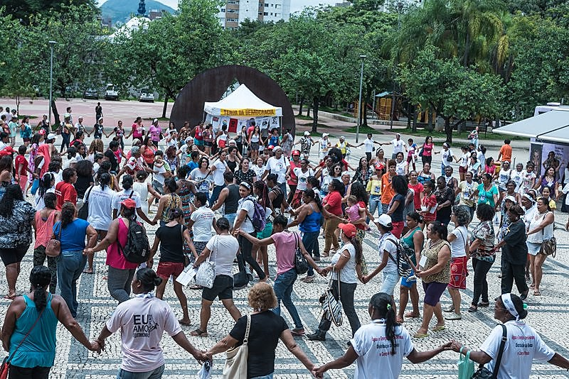 Duas mil mulheres acamparam na ALMG na luta por democracia, soberania e autonomia