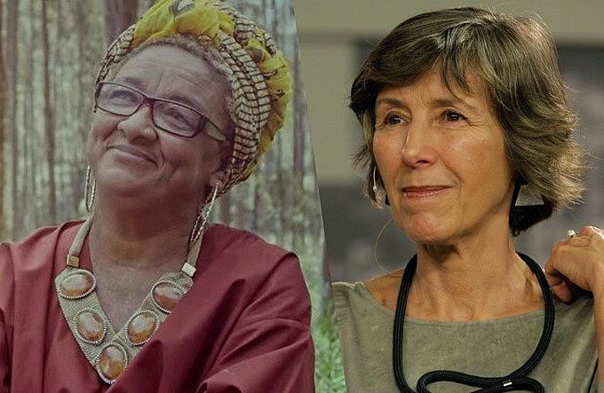 Artista plástica Dona Jacira e psicanalista Maria Rita Kehl