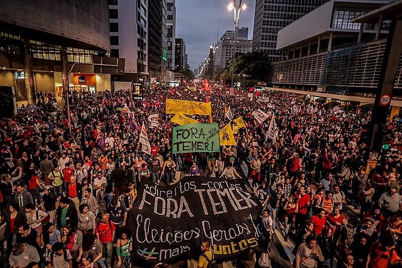 A pauta dos protestos estava focada em críticas a Temer e suas propostas