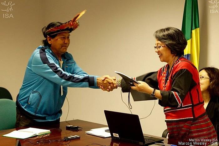 Relatora especial da ONU para direitos indígenas, Victoria Tauli-Corpuz, visitou o Brasil em 2016