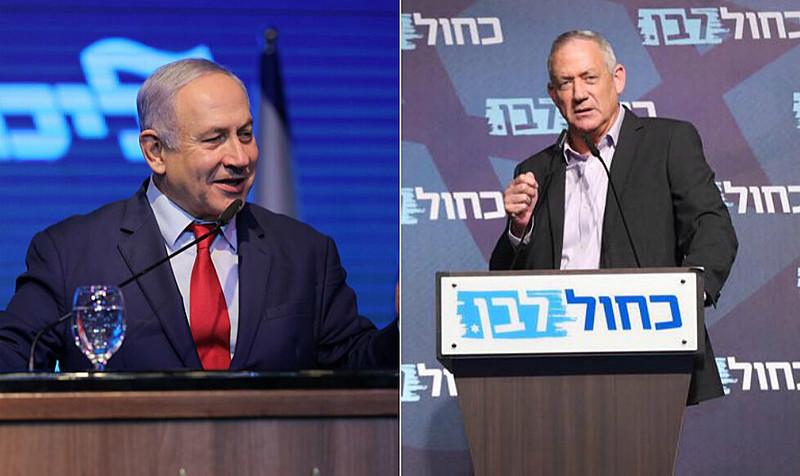 Partidos de Netanyahu (esq.) e Gantz disputam primeira colocação nas legislativas