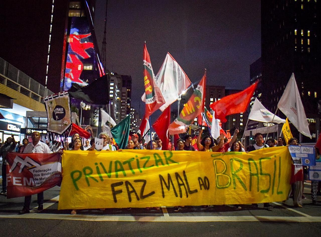 Petroleiros protesto SP Sao Paulo