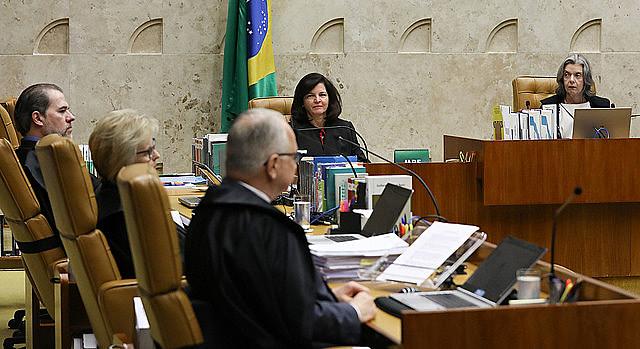 Sesión de este miércoles (4) en el Supremo Tribunal Federal, que deliberó sobre pedido de habeas corpus del expresidente Lula