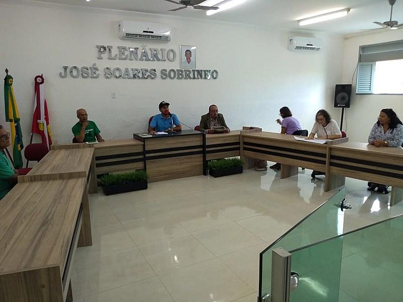Audiência na Câmara Municipal de Caiçara.