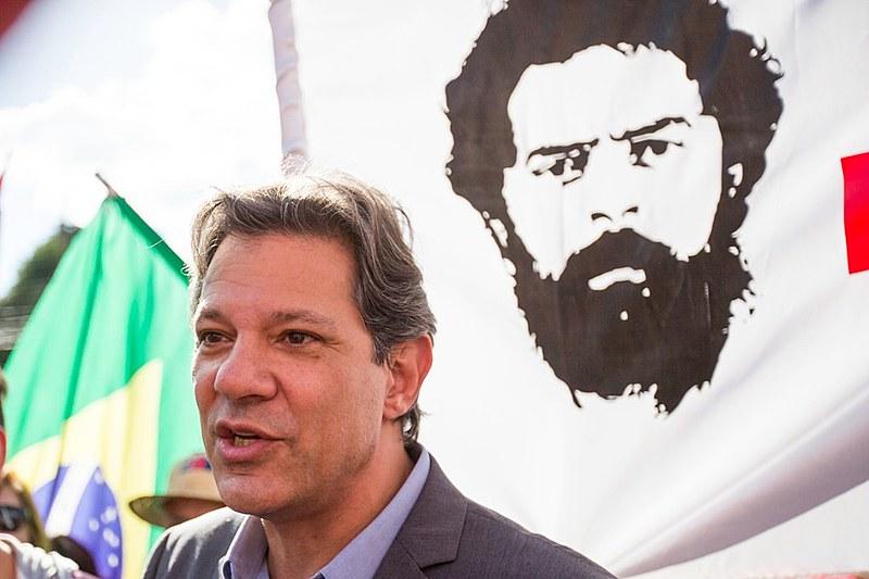 Fernando Haddad visitou o ex-presidente Lula em Curitiba nesta quinta-feira (22)