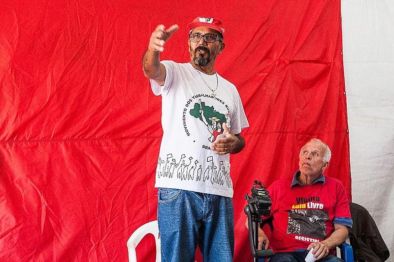 Vilmar Pacífico visita a Vigília Lula Livre