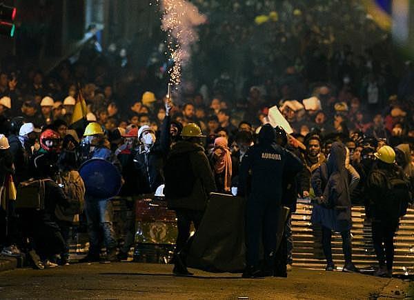 Demonstration in La Paz