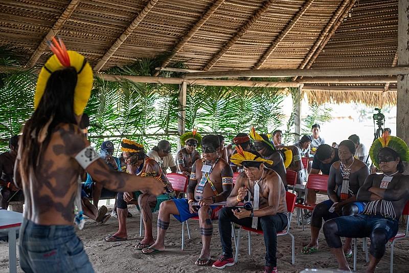 Reunião de aprovação do Protocolo na aldeia Kamaú