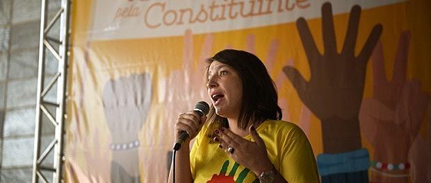 Paola Estrada, de la Secretaría de Alba Movimientos