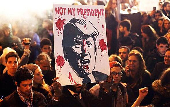 Protestos Anti-Trump tomaram as ruas de várias cidades dos Estados Unidos