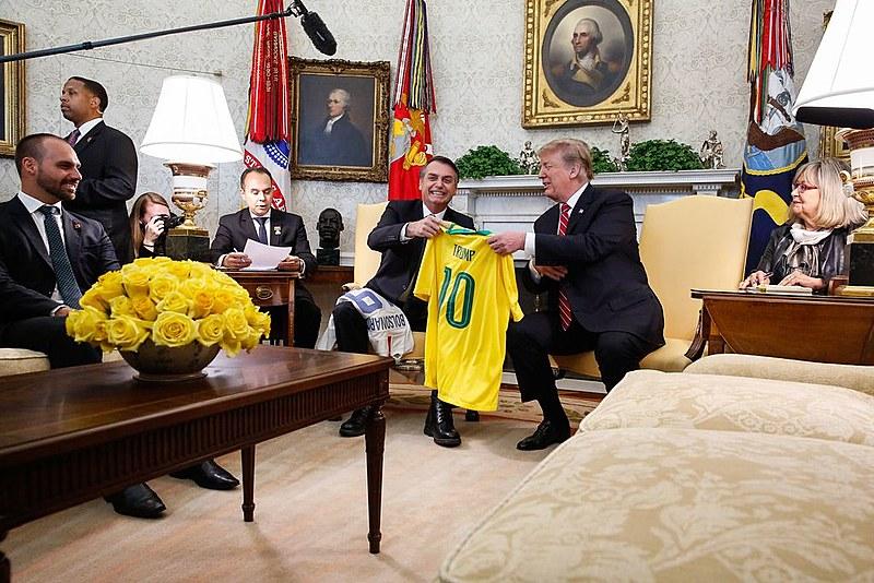 Presidente Trump recebe Jair Bolsonaro na Casa Branca